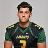 Marcus Velez of Ward Melville poses for a portrait during Newsday's Top 100 Varsity Football Players photo shoot at company headquarters in Melville on Monday, Aug. 20, 2018.