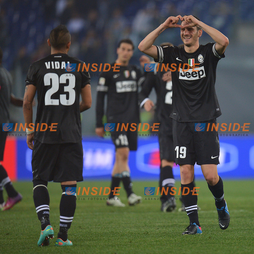 Arturo Vidal, Leonardo Bonucci Juventus .Roma 15/04/2013 Stadio Olimpico.Football Calcio 2012/2013 Serie A.Lazio Vs Juventus.Foto Andrea Staccioli Insidefoto