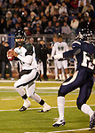 November 12, 2011:  Hawaii Warriors Bryant Moniz drops back to pass against the Nevada Wolf Pack in the first quarter during a WAC league game played at Mackay Stadium in Reno, Nevada.