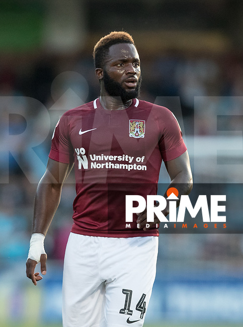 Junior Morias of Northampton Town during the Carabao Cup match between Wycombe Wanderers and Northampton Town at Adams Park, High Wycombe, England on 14 August 2018. Photo by Andy Rowland.