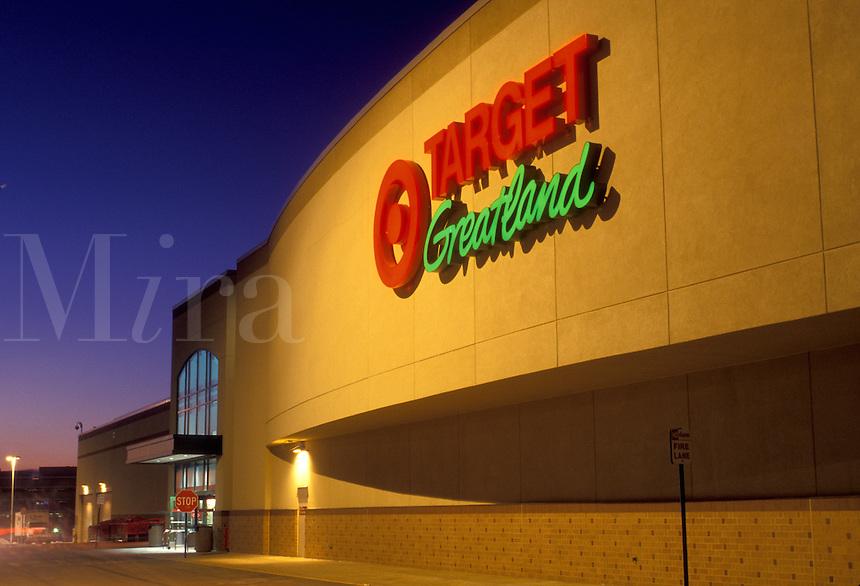 Target, Wilmington, DE, Delaware, Entrance to Target retail store in Wilmington in the evening.