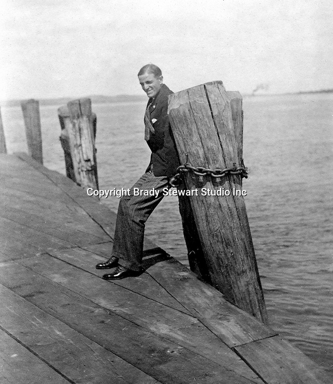 Lakewood NY:  Brady Stewart waiting for the City of Cleveland Ferry - 1901. Photographs taken during a church field trip to Chautauqua Institution in New York (Lake Chautauqua). The Stewart family and friends visited Chautauqua during 1901 to hear Stewart relative, Dr. S.H. Clark  speak at the institute. Alice Brady Stewart chaperoned and Brady Stewart came along to photograph the trip.  The Gallery provides a glimpse of how the privileged and church faithful spent summers at Lake Chautauqua at the turn of the century.