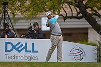 Louis Oosthuizen (RSA) watches his tee shot on 1 during day 4 of the WGC Dell Match Play, at the Austin Country Club, Austin, Texas, USA. 3/30/2019.<br /> Picture: Golffile | Ken Murray<br /> <br /> <br /> All photo usage must carry mandatory copyright credit (© Golffile | Ken Murray)