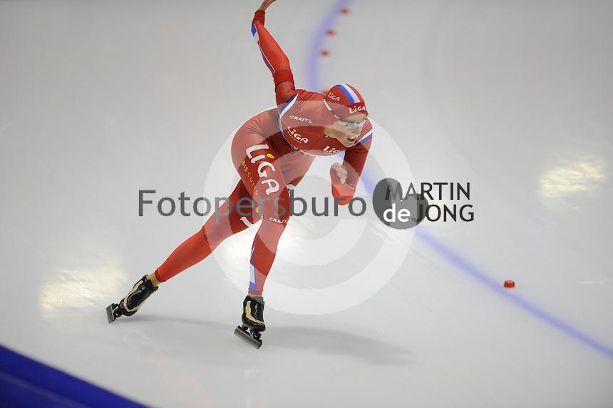SCHAATSEN: HEERENVEEN: IJsstadion Thialf, 13-10-2012, Trainingswedstrijd, Janine Smit, ©foto Martin de Jong
