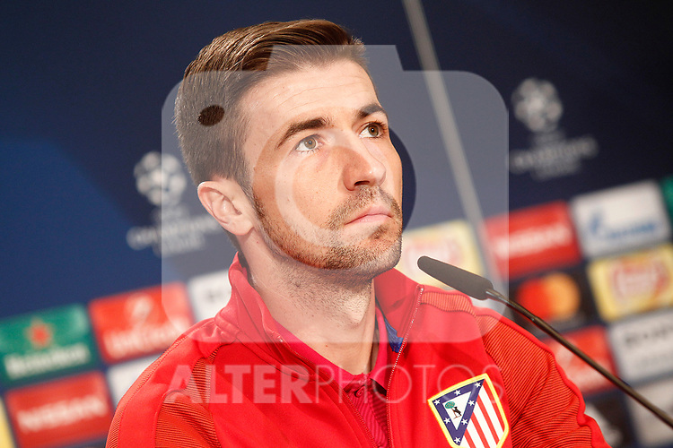 Atletico de Madrid's Gabi Fernandez in press conference. April 11, 2017.(ALTERPHOTOS/Acero)
