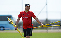 20180303 - LARNACA , CYPRUS :  Belgian head coach Ives Serneels pictured during a Matchday -2 training from The Belgian Red Flames prior to their game against Austria , on Saturday 3 March 2018 at the Alpha Sports Grounds in Larnaca , Cyprus . This will be the third game in group B for Belgium during the Cyprus Womens Cup , a prestigious women soccer tournament as a preparation on the World Cup 2019 qualification duels. PHOTO SPORTPIX.BE   DAVID CATRY
