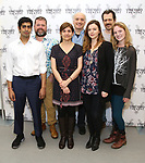 Eshan Bay, director Peter DuBois, playwright Gina Gionfriddo, Frank Wood, Amber Tamblyn, Darren Pettie, and Ella Dershowitz attend the photo call for The Vineyard Theatre production of 'Can You Forgive Her' at the New 42nd Street Studios on April 3, 2017 in New York City.