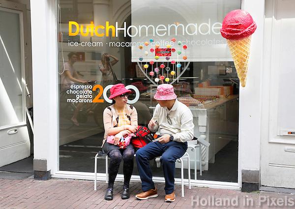 Nederland Amsterdam 2015 08 02 . Macarons, ijs, koffie en chocolade te koop bij DutchHomemade