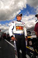 Sept 19, 2008; Dover, DE, USA; NASCAR Camping World Series East driver Marc Davis during qualifying prior to the Sunoco 150 at Dover International Speedway. Mandatory Credit: Mark J. Rebilas-