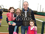 Jonathan, Lyndsey, Lana and Jessica Murphy at the Laytown and Bettystown Tennis Club Promotion day. Photo:Colin Bell/pressphotos.ie