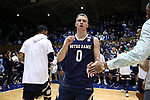 DURHAM, NC - JANUARY 29: Notre Dame's Rex Pflueger. The Duke University Blue Devils hosted the University of Notre Dame Fighting Irish on January 29, 2018 at Cameron Indoor Stadium in Durham, NC in a Division I men's college basketball game. Duke won the game 88-66.