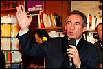 François Bayrou / Président du Mouvement Démocrate MODEM interviewé au bar L'Entropie à Pau / 64 Pyrénées Atlantiques / Rég. Aquitaine / François Bayrou former president of the MODEM french party / France