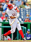 8 September 2011: Washington Nationals third baseman Ryan Zimmerman in action against the Los Angeles Dodgers at Nationals Park in Washington, DC. The Dodgers defeated the Nationals 7-4 to take the third game of their 4-game series. Mandatory Credit: Ed Wolfstein Photo