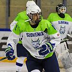 06.04.2019, BLZ Arena, Füssen / Fuessen, GER, FSP, U18, Deutschland (GER) vs Slowenien (SLO), <br /> im Bild Miha Krmelj (SLO, #8)<br /> <br /> Foto © nordphoto / Hafner