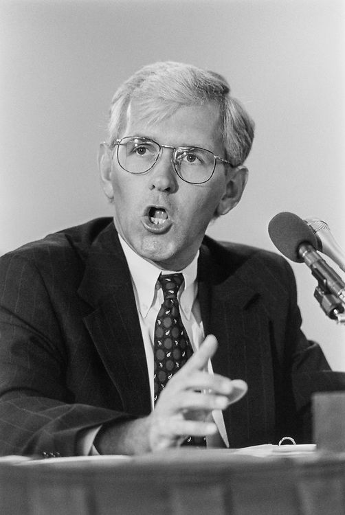 Rep. Steve Gunderson, R-Wis. at Joint Civilian Orientation Conference on July 16, 1993. (Photo by Chris Martin/CQ Roll Call)