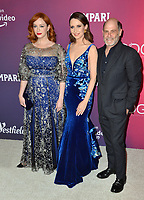 LOS ANGELES, CA. February 19, 2019: Christina Hendricks, Janie Bryant & Matthew Weiner at the 2019 Costume Designers Guild Awards at the Beverly Hilton Hotel.<br /> Picture: Paul Smith/Featureflash