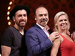 "Tam Mutu, Danny Burstein and Robyn Hurder from ""Moulin Rouge!"" The Broadway Musical at the Al Hirschfeld Theatre on July 9, 2019 in New York City."