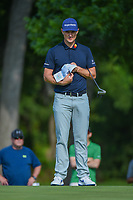 Justin Rose (GBR) looks over his putt on 2 during round 3 of the 2019 Charles Schwab Challenge, Colonial Country Club, Ft. Worth, Texas,  USA. 5/25/2019.<br /> Picture: Golffile | Ken Murray<br /> <br /> All photo usage must carry mandatory copyright credit (© Golffile | Ken Murray)