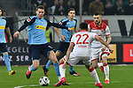 15.02.2020, Merkur Spiel-Arena, Duesseldorf, GER, 1. BL, Fortuna Duesseldorf vs. Borussia Moenchengladbach, DFL regulations prohibit any use of photographs as image sequences and/or quasi-video<br /> <br /> im Bild / picture shows: v. li. im Zweikampf Nico Elvedi (#30, Borussia Moenchengladbach) Kevin Stöger / Stoeger (#22, Fortuna Duesseldorf) <br /> <br /> Foto © nordphoto/Mauelshagen