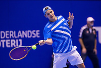 Rotterdam, Netherlands, December 16, 2017, Topsportcentrum, Ned. Loterij NK Tennis, Semifinal men, Justin Eleveld (NED)<br /> Photo: Tennisimages/Henk Koster