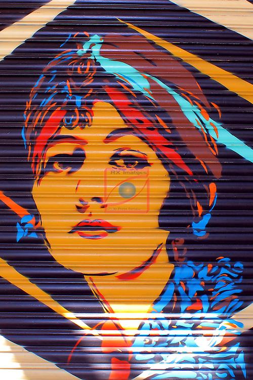 Street Art-Graffittis.<br /> Carrer Nou de la Rambla.<br /> Barcelona- Poble Sec (Sants-Montjuic).