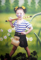 Picture of Liu Fangyuan (Yuan Yuan) at age 5 taken in 2000, two years before her aunt poured sulfuric acid on her face after losing a housing dispute with Yuan Yuan's father, in Nanjing China. The attack blinded and seriously disfigured Yuan Yuan, while her aunt is serving a life sentence in prison, Yuan Yuan and her family awaits a controversial face transplant...PHOTO BY SHEN / SINOPIX