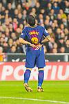 Andres Iniesta Lujan of FC Barcelona is seen during the La Liga 2017-18 match between Valencia CF and FC Barcelona at Estadio de Mestalla on November 26 2017 in Valencia, Spain. Photo by Maria Jose Segovia Carmona / Power Sport Images