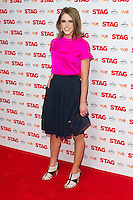 Amy Huberman arriving for The Stag Premiere at Vue Leicester Square, London. 13/003/2014 Picture by: Dave Norton / Featureflash