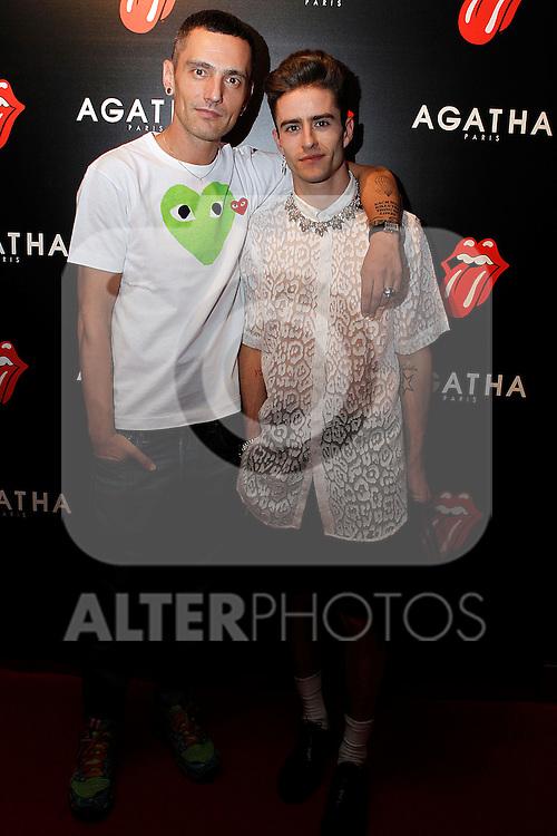 Pelayo (l) and David Delfin at Aghata evnt.28 june 2012.(ALTERPHOTOS/ARNEDO)