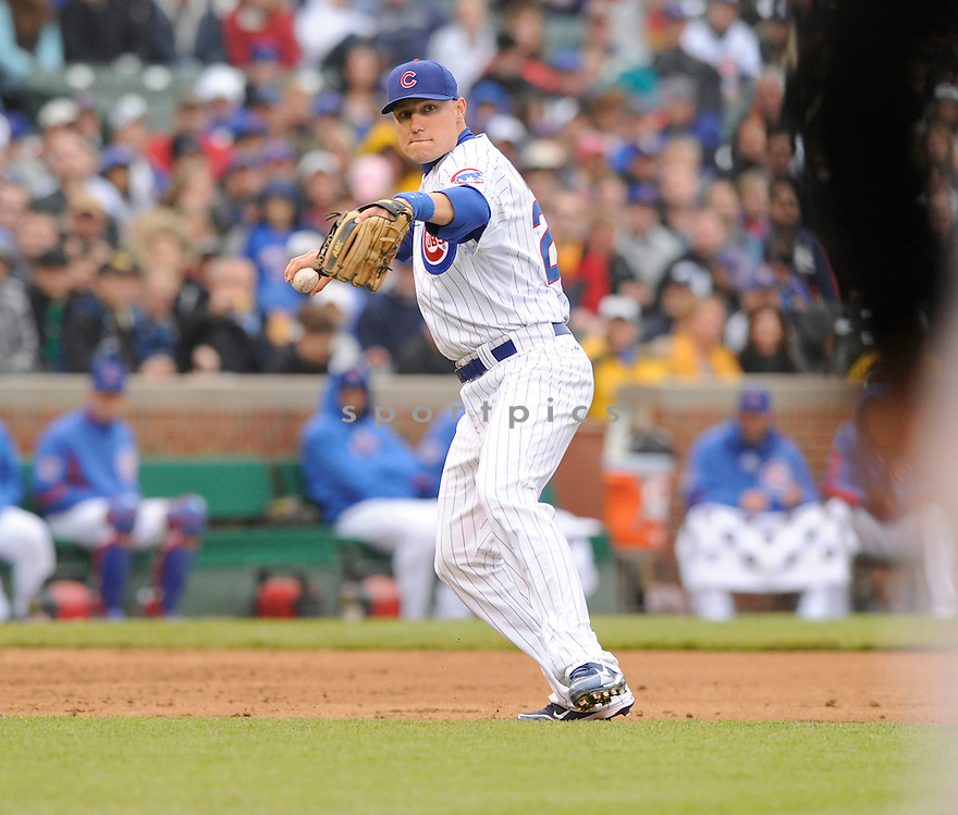 JEFF BAKER, of the Chicago Cubs in action during the Cubs game against the Florida Marlins   at Wrigley Field in Chicago, IL  on May 12, 2010...The Chicago Cubs win 4-3.