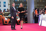 Suzann Pettersen and her boyfriend Christian walk the Red Carpet event at the World Celebrity Pro-Am 2016 Mission Hills China Golf Tournament on 20 October 2016, in Haikou, China. Photo by Victor Fraile / Power Sport Images