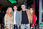 Erica McGuinness, Michael tobin, Con McGrath and Rachel McGrath seeing in New Years Eve in the Snug bar Killarney