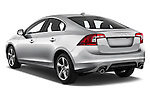 Car pictures of rear three quarter view of 2018 Volvo S60 R-Design 4 Door Sedan Angular Rear