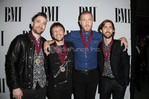 BEVERLY HILLS, CA - MAY 10: Imagine Dragons, Dan Reynolds, Wayne Sermon, Ben McKee, Daniel Platzman attends the 64th Annual BMI Pop Awards held at the Beverly Wilshire Four Seasons Hotel on May 10, 2016 in Beverly Hills, California.Credit: AMP/MediaPunch.
