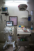 A new born baby is kept under observation at the intensive care unit of the Duncan Hospital in Raxaul, Bihar, India.