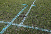 Multiple pitch marking during May & Baker vs Swaffham Town, Buildbase FA Vase Football at Gale Street on 4th November 2018