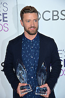 Justin Timberlake at the 2017 People's Choice Awards at The Microsoft Theatre, L.A. Live, Los Angeles, USA 18th January  2017<br /> Picture: Paul Smith/Featureflash/SilverHub 0208 004 5359 sales@silverhubmedia.com