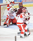 John Curry, Brian Boyle, Sean Sullivan - The Boston College Eagles defeated the Boston University Terriers 5-0 on Saturday, March 25, 2006, in the Northeast Regional Final at the DCU Center in Worcester, MA.