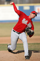 April 5, 2009:  /rp/ Adam Quinn (28) of the Ball State Cardinals during a game at Amherst Audubon Field in Buffalo, NY.  Photo by:  Mike Janes/Four Seam Images