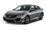 2017 Honda Civic EX 5 Door Hatchback Angular Front stock photos of front three quarter view