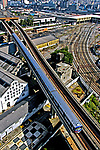 Transporte metroviário em São Paulo. 2004. Foto de Juca Martins.