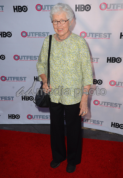 "11 July 2015 - West Hollywood, California - Betty DeGeneres. Arrivals for the 2015 Outfest Los Angeles LGBT Film Festival screening of ""Tab Hunter Confidential"" held at The DGA Theater. Photo Credit: Birdie Thompson/AdMedia"