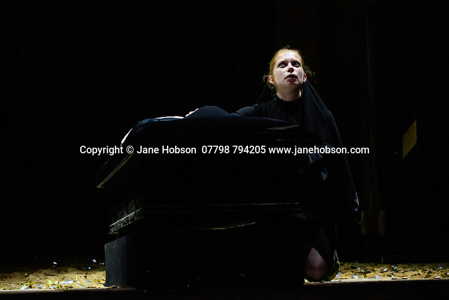 """Schaubuhne Berlin presents """"Richard III"""", by William Shakespeare, at the Lyceum Theatre, as part of the Edinburgh International Festival. Picture shows: Jenny Konig (Lady Anne)"""