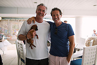 David Shorr and Stephen Pearl at Puppies & Parties Presents Malibu Beach Puppy Party (Photo by Tiffany Chien/Guest Of A Guest)