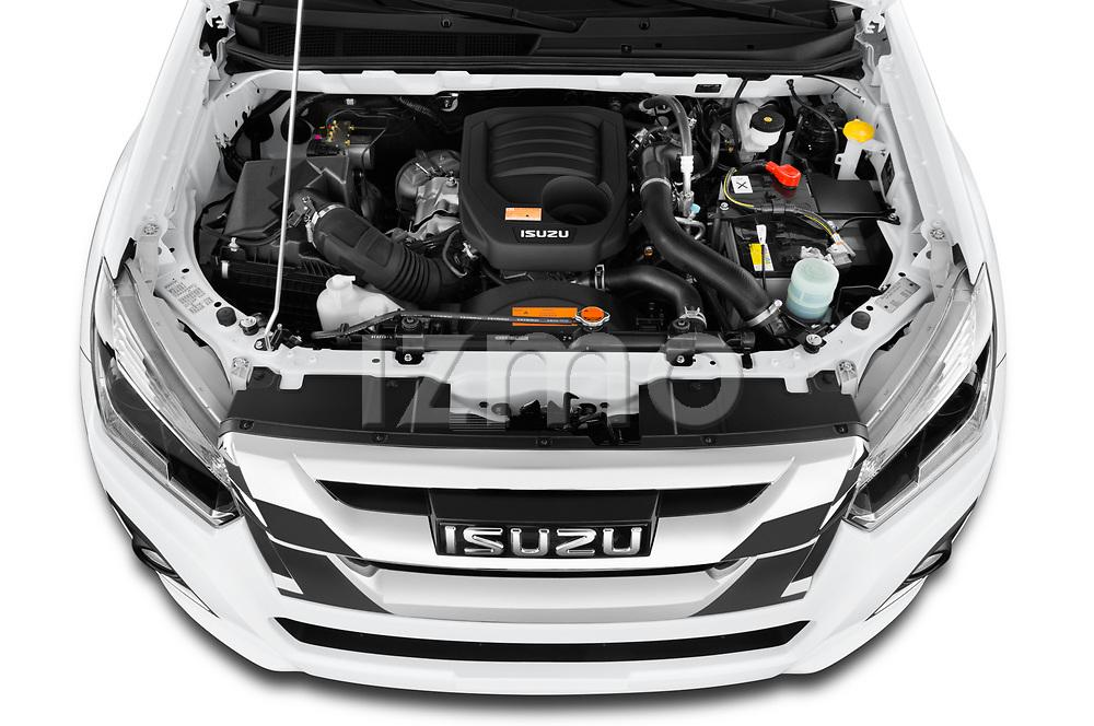 Car Stock 2019 Isuzu D-Max LS 2 Door Pick-up Engine  high angle detail view