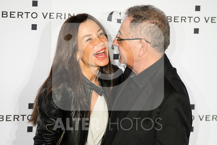"Cecilia Gomez and Roberto Verino during the presentation of the new Spring-Summer collection ""Un Balcon al Mar"" of Roberto Verino at Platea in Madrid. March 16, 2016. (ALTERPHOTOS/Borja B.Hojas)"