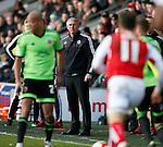 Nigel Adkins manager of Sheffield Utd looks on during the game - English League One - Fleetwood Town vs Sheffield Utd - Highbury Stadium - Fleetwood - England - 5rd March 2016 - Picture Simon Bellis/Sportimage