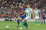 Rakitic in action during La Liga game between FC Barcelona v Betis at Camp Nou