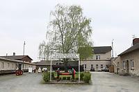 Eingang zum Eisenbahnmuseum - Darmstadt 02.04.2017: Saisoneröffnung im Eisenbahnmuseum Kranichstein