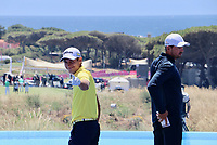 Joakim Lagergren (SWE) and Alexander Bjork (SWE) during the first day of Golf Sixes Cascais , Oitavos Dunes, Lisbon, Portugal. 07/06/2019.<br /> Picture Chomnashamon Nilsson / Golffile.ie<br /> <br /> All photo usage must carry mandatory copyright credit (© Golffile | Chomnashamon Nilsson)